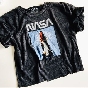 NASA Cropped Graphic Tee